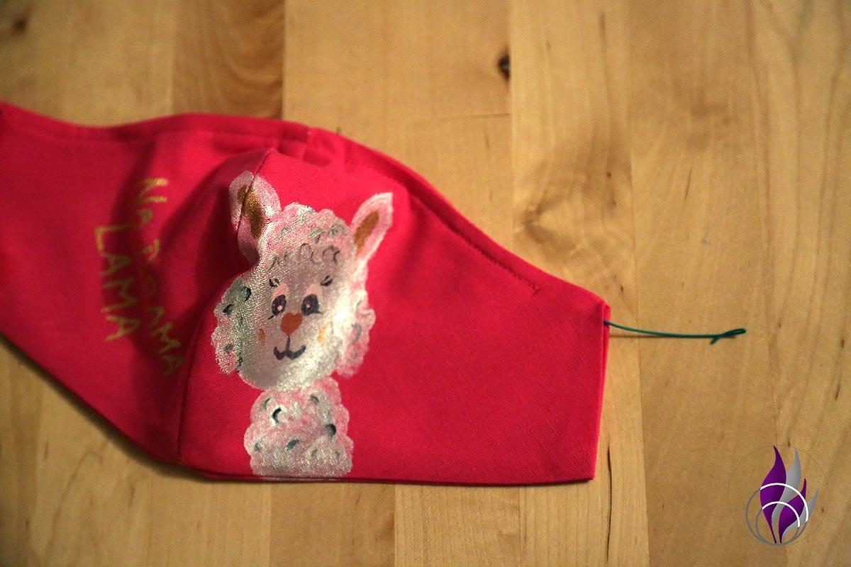 fun4family Mund Maske DIY Lama Basteldraht einfädeln