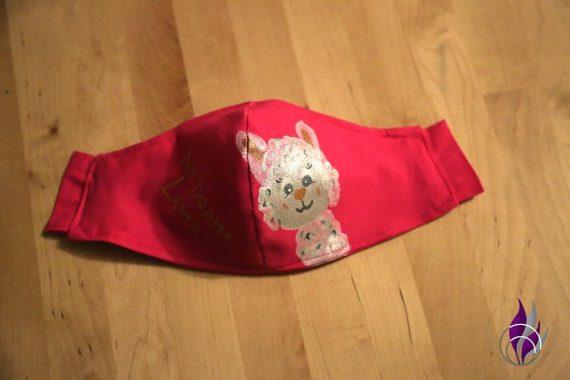 fun4family Mund Maske DIY Lama Maske fertig genäht
