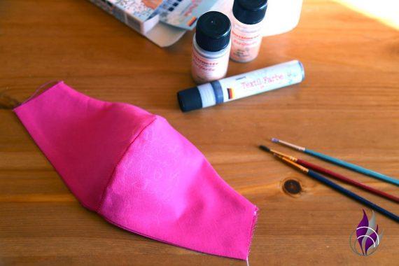 fun4family Mund Maske DIY Lama bemalen