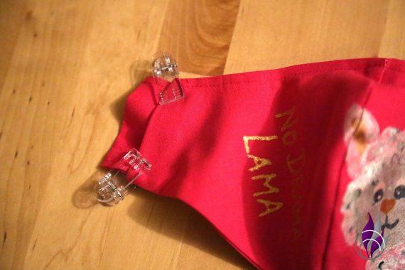 fun4family Mund Maske DIY Lama Schlaufen feststecken