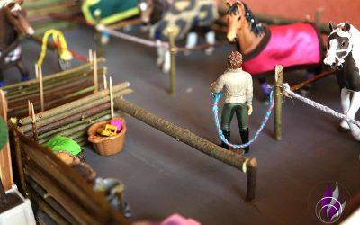 Reitstall für unsere Pferde von Schleich – DIY Bastelidee