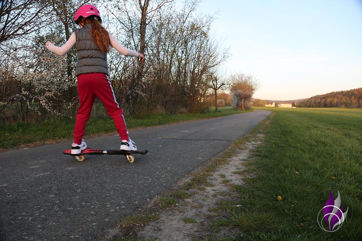 fun4family Waveboard Casterboard Kurven