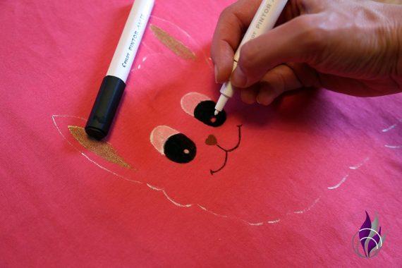 fun4family Alpaka Shirt DIY PINTOR Feinheiten