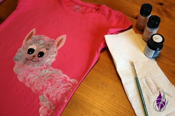 fun4family Alpaka Shirt DIY Textilfarben