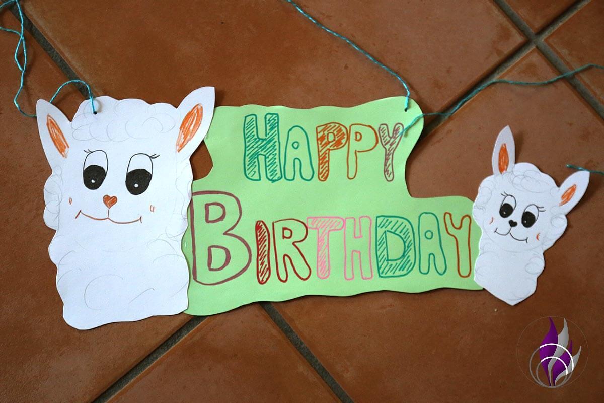 fun4family Girlande Anhänger Happy Birthday