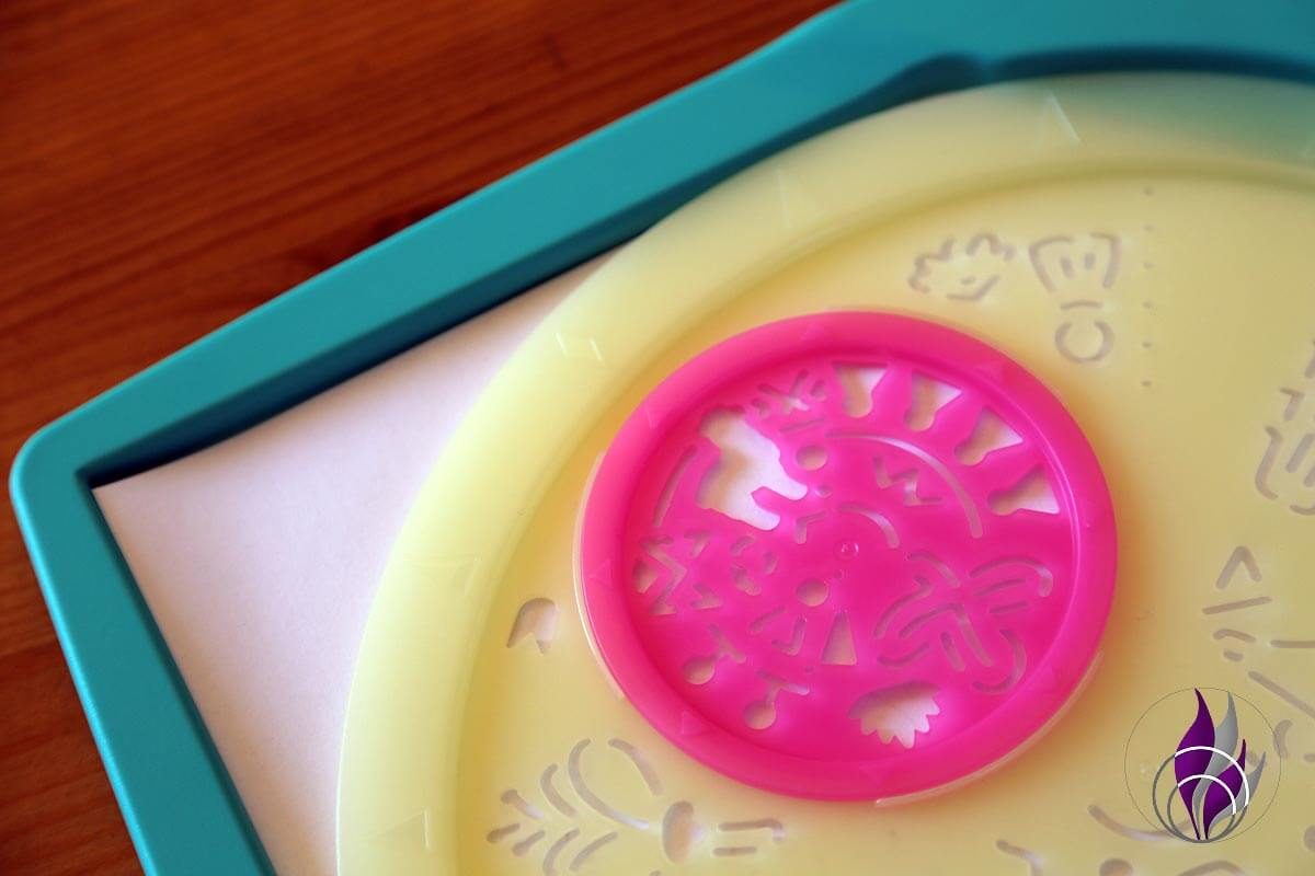 fun4family Mandala Designer Lama Mini Schablone