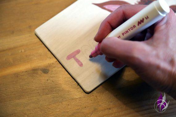 fun4family DIY Namensschilder Hasen PINTOR Kreativmarker
