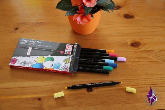 fun4family Aquarell Farben Faserstifte