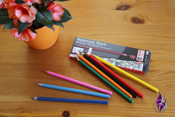 fun4family Aquarell Farben Buntstifte