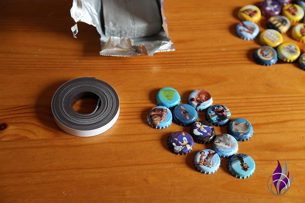 fun4family Material Kronkorken Magnetband Modelliermasse