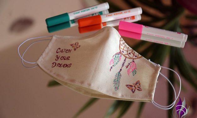 Schnelle DIY Mundmaske im sommerlichen Boho-Style
