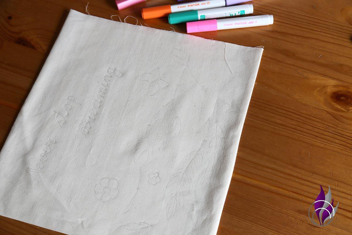fun4family DIY Tasche nähen Reißverschluss Design PINTOR Marker PILOT