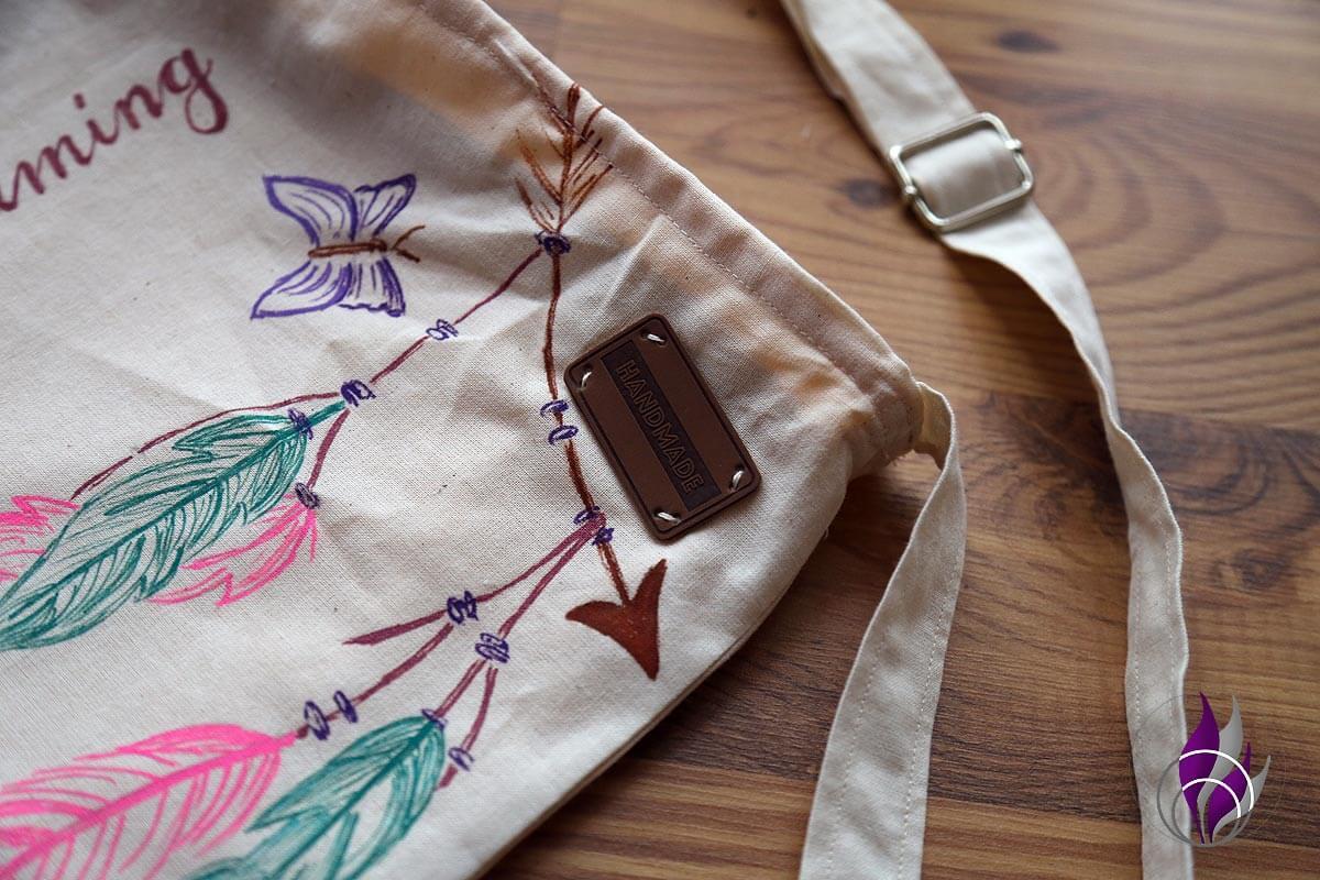 fun4family DIY Tasche nähen Label Handmade