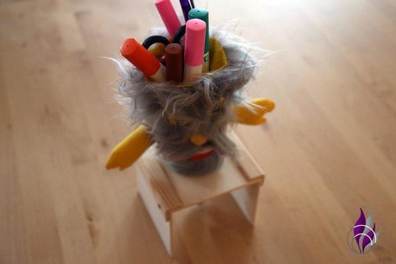 fun4family DIY Schultüte Stiftehalter Monster