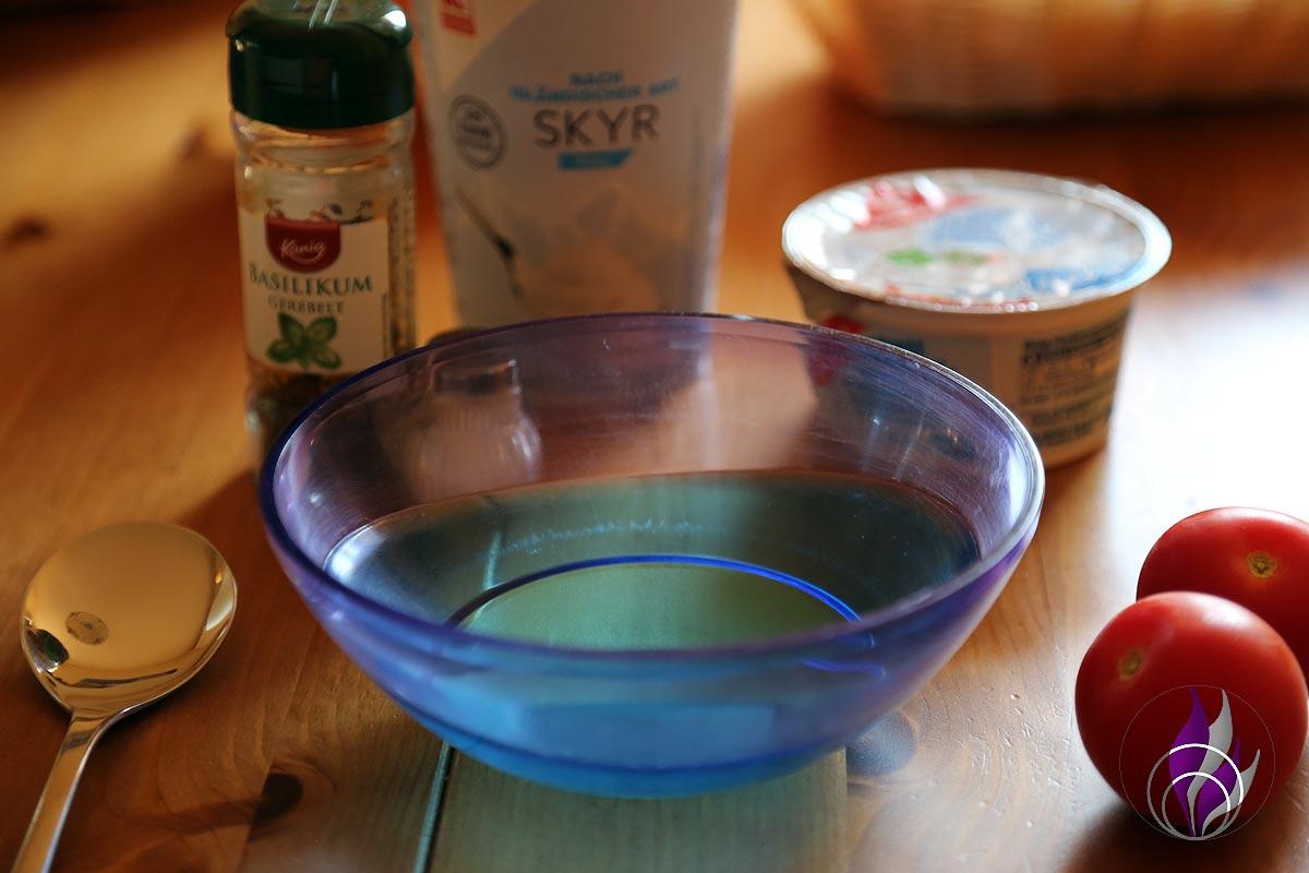 fun4family Tomaten Frischkäse Salat Zutaten