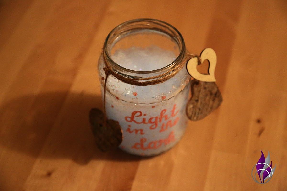 fun4family DIY Dekoglas Leuchtgelee Dekoherzen