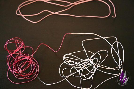 fun4family DIY Kette Bänder Makrameeknoten