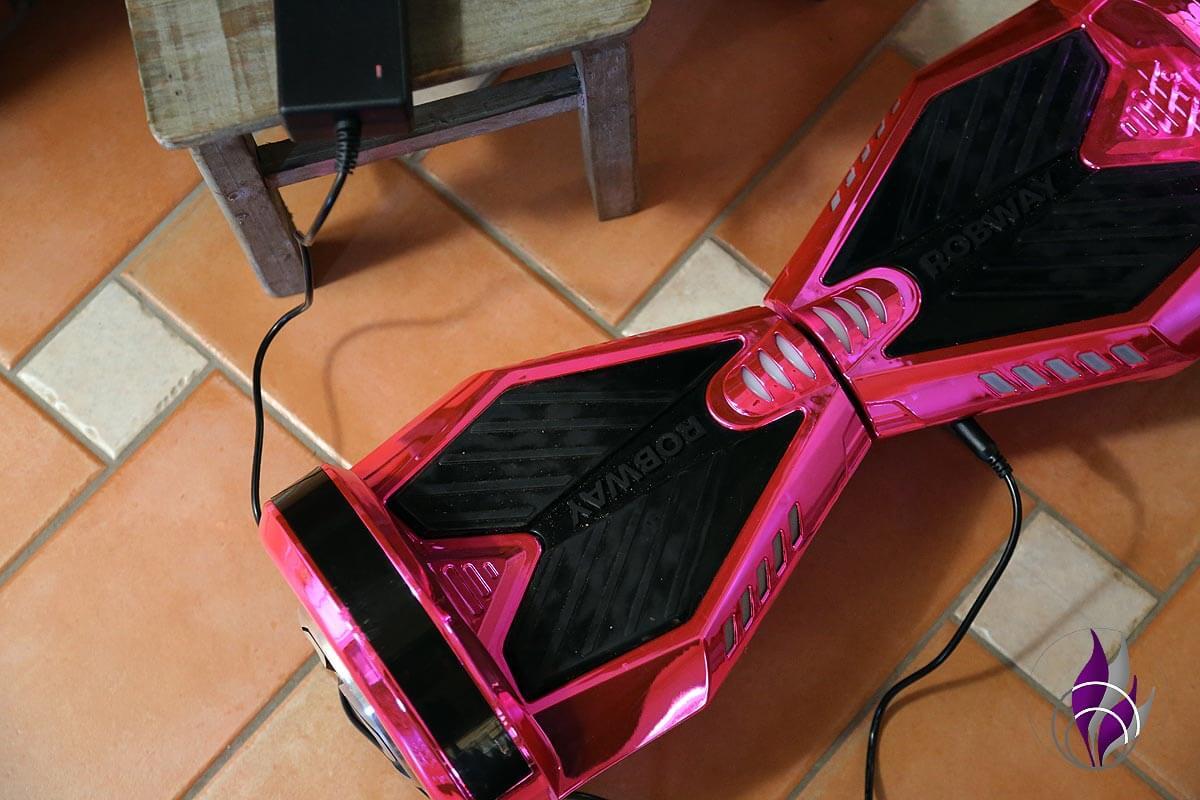 fun4family Hoverboard ROBWAY W2 Akku laden Ladevorgang