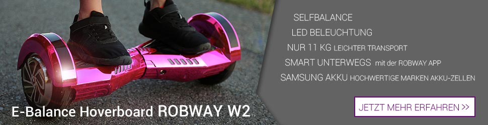 fun4family Hoverboard ROBWAY W2 Miweba