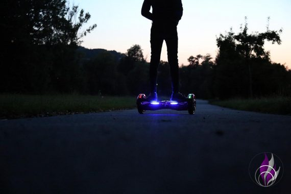 fun4family Hoverboard ROBWAY W2 LED Licht
