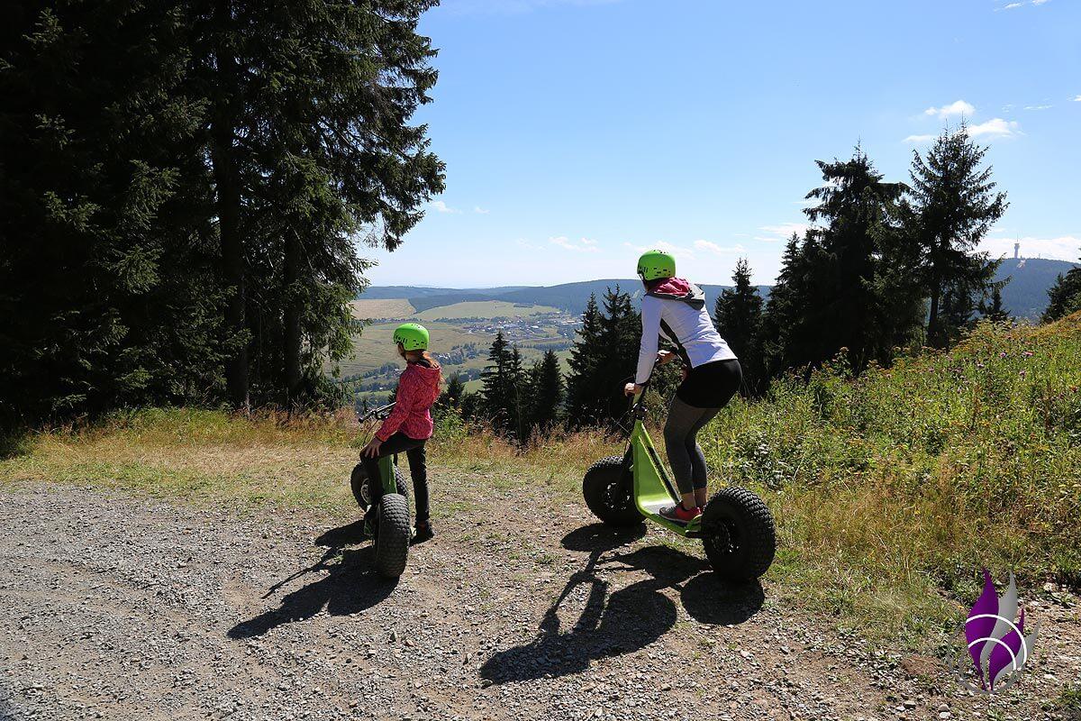 fun4family Monsterroller Oberwiesenthal Erzgebirge Abfahrt Ausblick