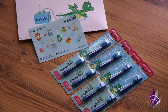 fun4family Playbrush Schallzahnbürste Ersatzbürsten Smart Sonic