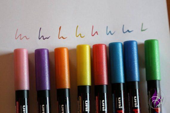 fun4family POSCA Marker Glitter Farben