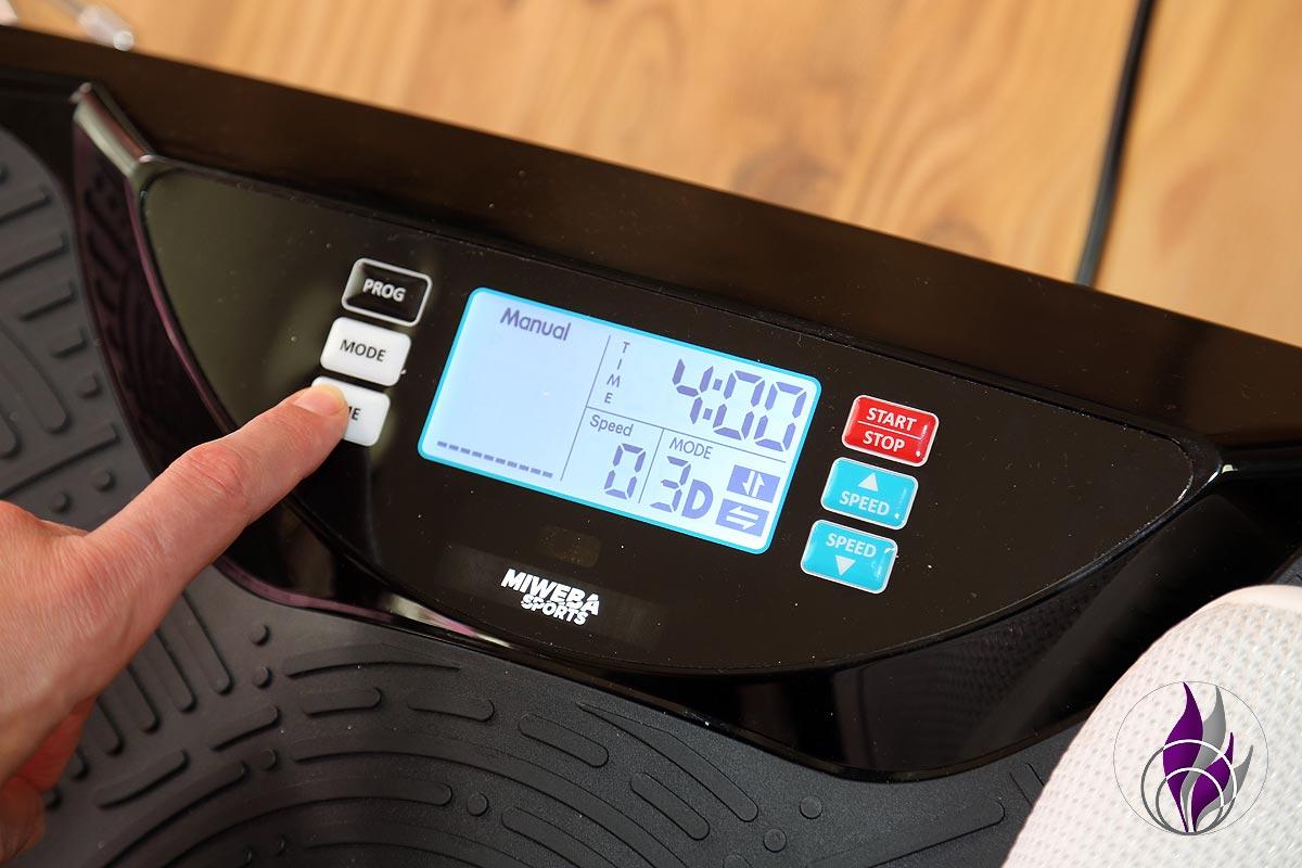 fun4family Vibrationsplatte 4D Home Workout Ausfallschritte Lunges Display Zeit
