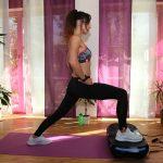 Workout Vibrotraining: Lunges / Ausfallschritte auf der 4D Vibrationsplatte