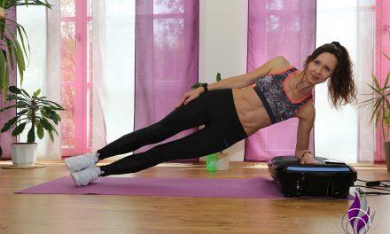 Übung Vibrotraining: Side Plank auf der Vibrationsplatte