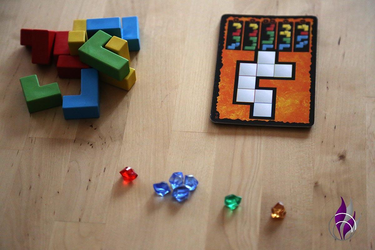 fun4family Denkspiel Ubongo 3D Family Edelsteine zählen