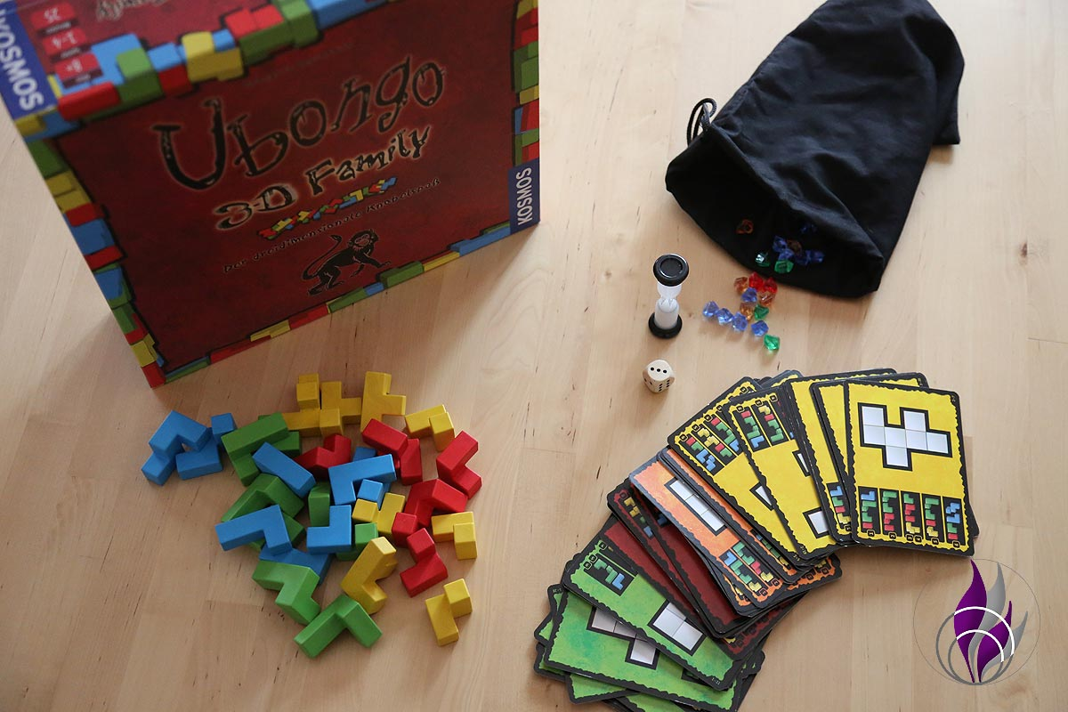 fun4family Denkspiel Ubongo 3D Family Spiel-Material