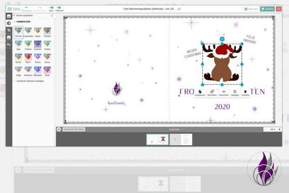 fun4family Kartenmanufaktur Weihnachtsgrußkarten gestalten