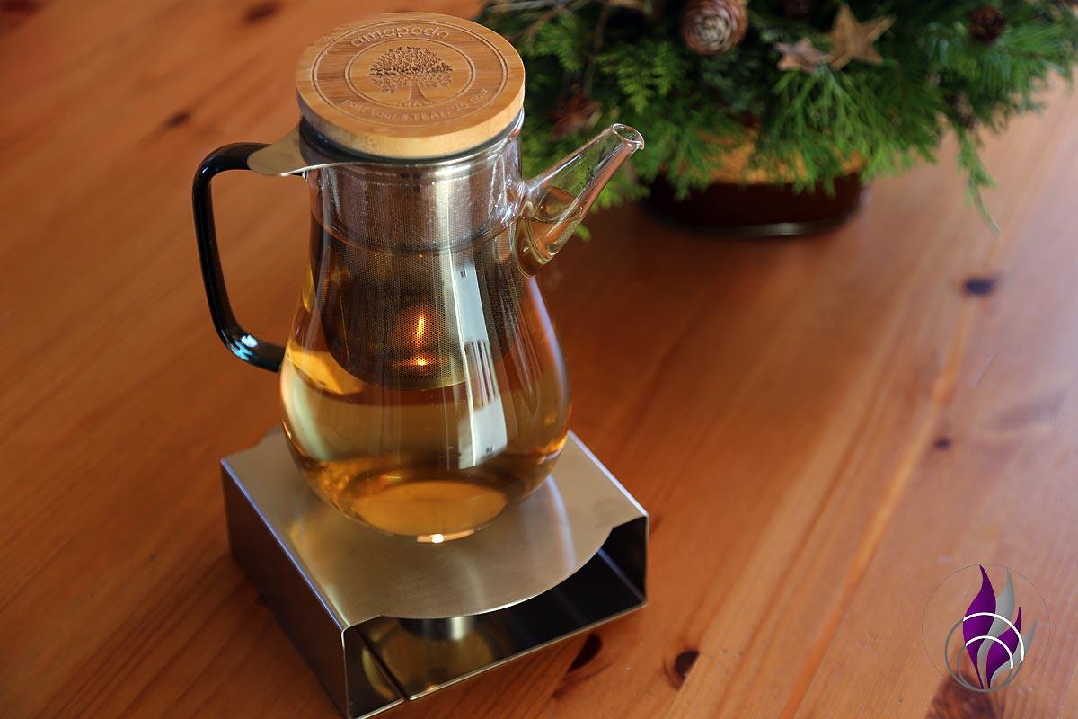 Teekanne aus Glas mit Sieb – ein Hingucker und Must-have für Teeliebhaber
