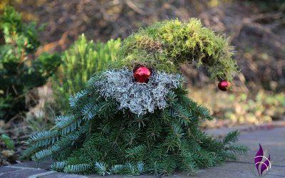 DIY Wichtel aus Moos und Fichtenzweigen – schöne Dekoidee zu Weihnachten