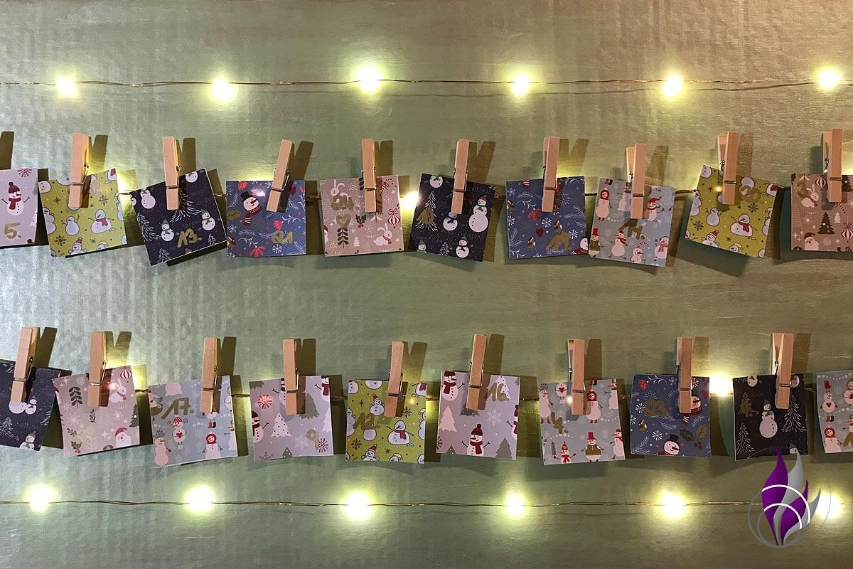 fun4family DIY Foto Adventskalender Lichterkette