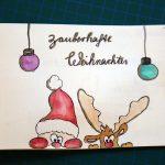 DIY Weihnachtskarte mit Aquarellfarbe und Handlettering gestalten