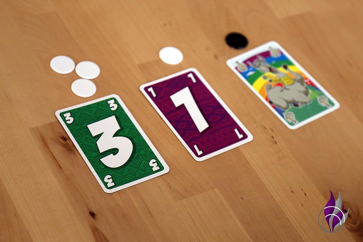 fun4family LAMA nimm's lässig Spiel Rundenende Chips Minuspunkte