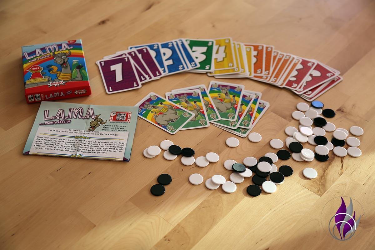 fun4family LAMA nimm's lässig Spiel Kartenspiel Inhalt