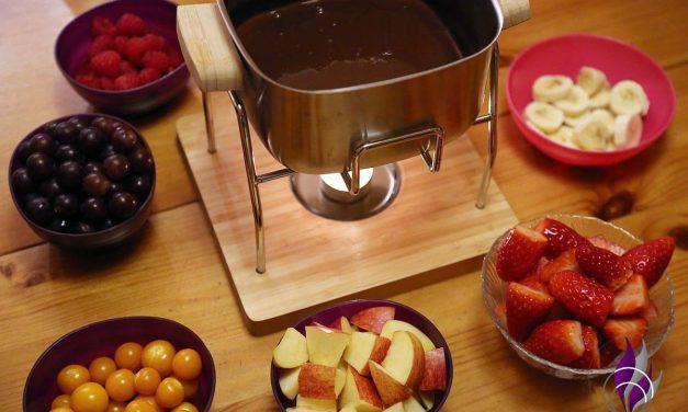 Schokoladenfondue – eine kleine Sünde als Dessert für Naschkatzen