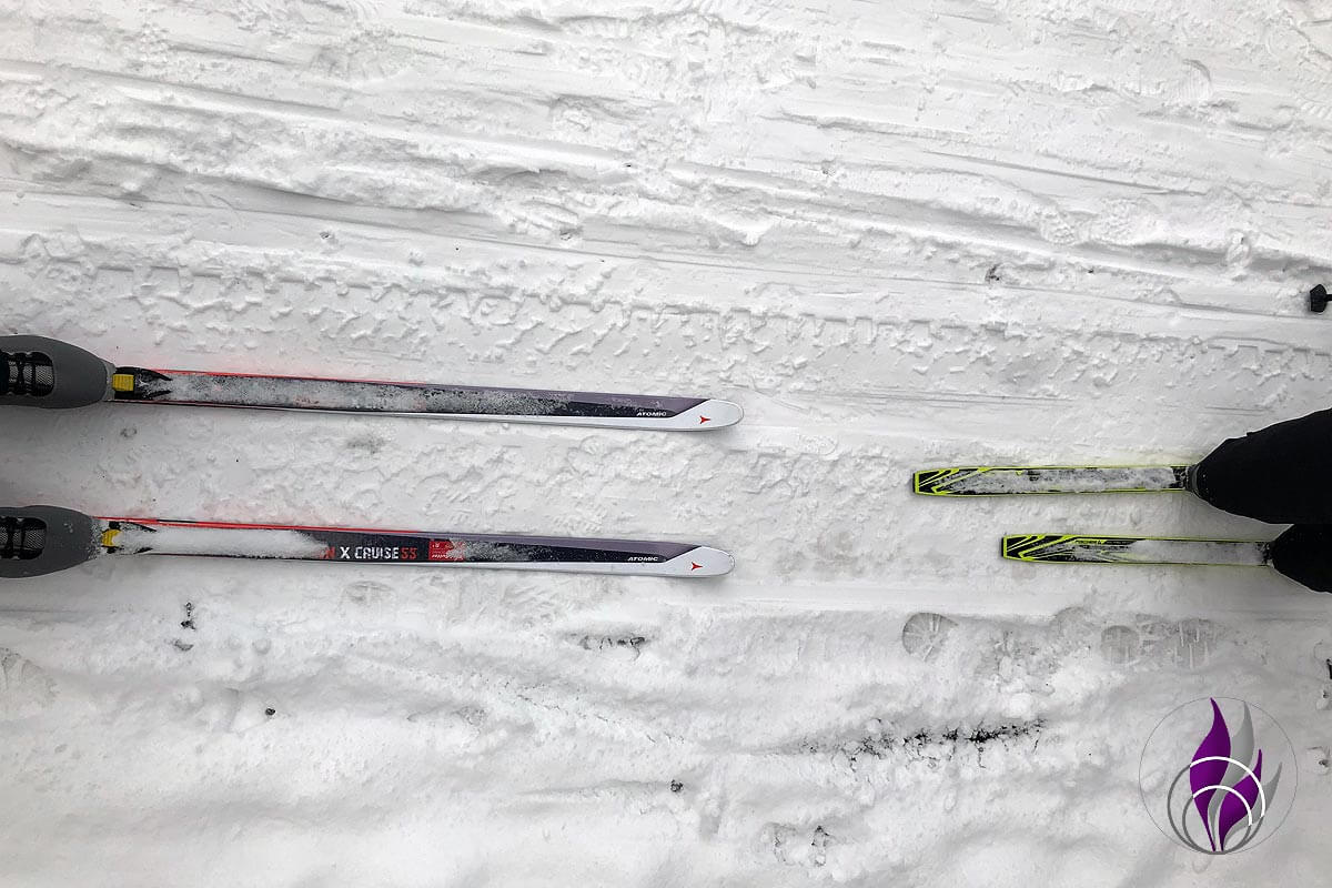 fun4family Skilanglauf Langlaufski Abstand Schnee Winter