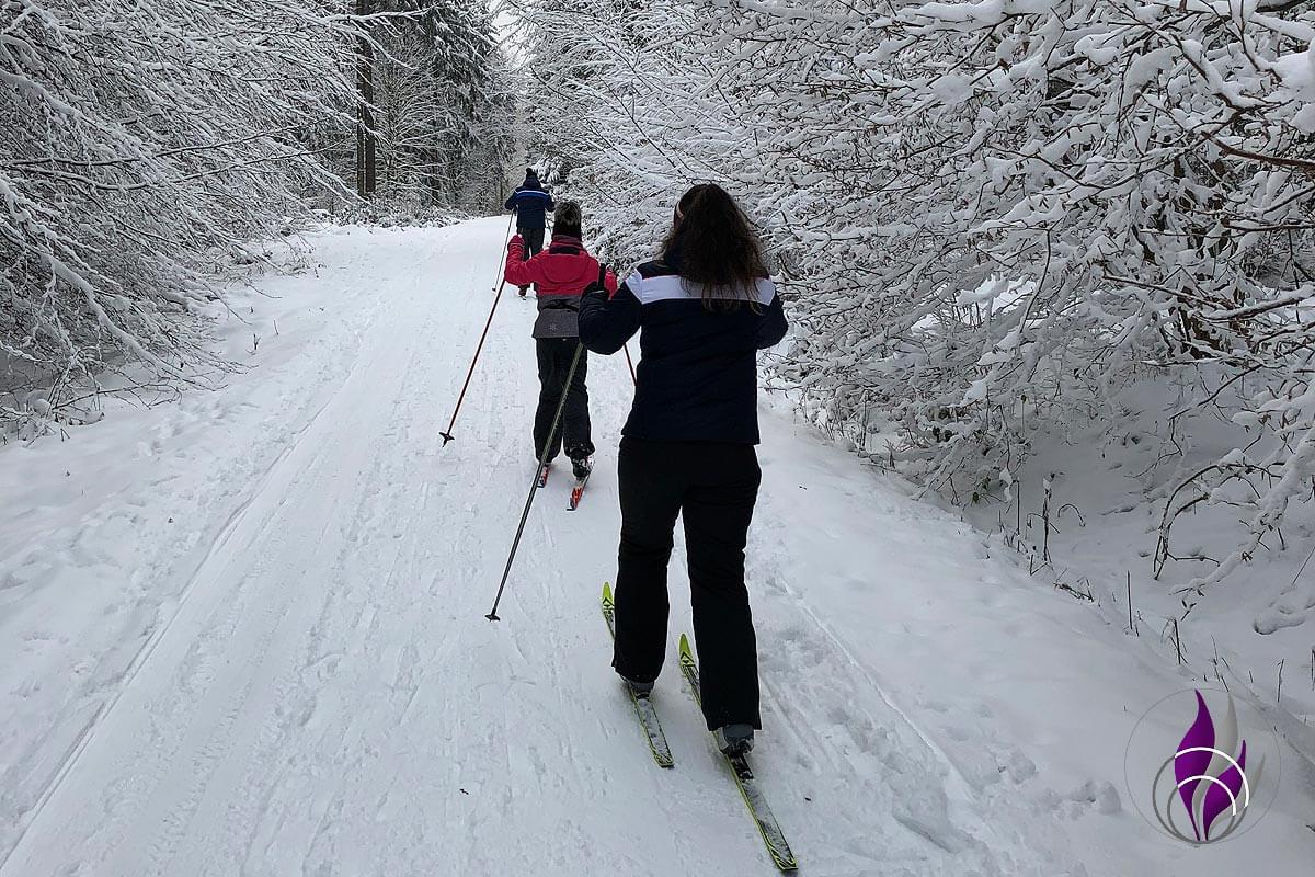 fun4family Skilanglauf Langlauf Ski Schnee Winter Wald