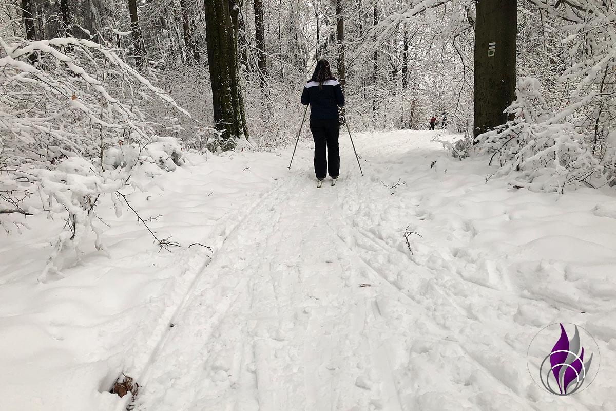 fun4family Skilanglauf Langlaufski Schnee Winter Wald