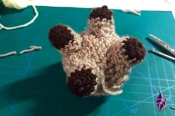 fun4family Wollowbies Häkelfigur Pferd Beine