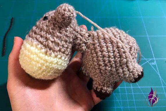 fun4family Wollowbies Häkelfigur Pferd Kopf Körper