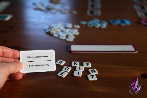fun4family Krazy Wordz Partyspiel Ravensburger Aufgabenkarte Buchstaben