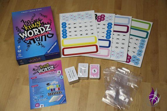 fun4family Krazy Wordz Partyspiel Ravensburger Spiel Inhalt