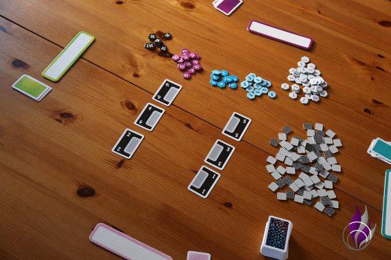 fun4family Krazy Words Partyspiel Ravensburger Spielaufbau