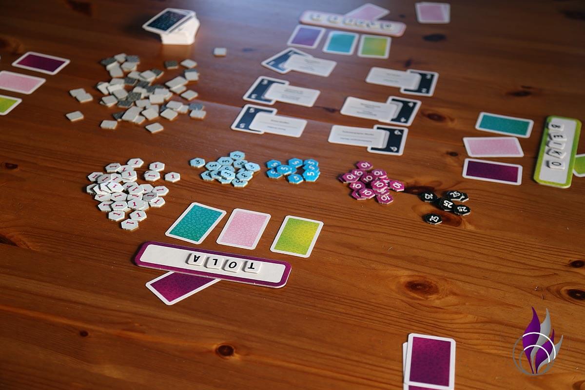fun4family Krazy Wordz Partyspiel Ravensburger Tippkarten legen