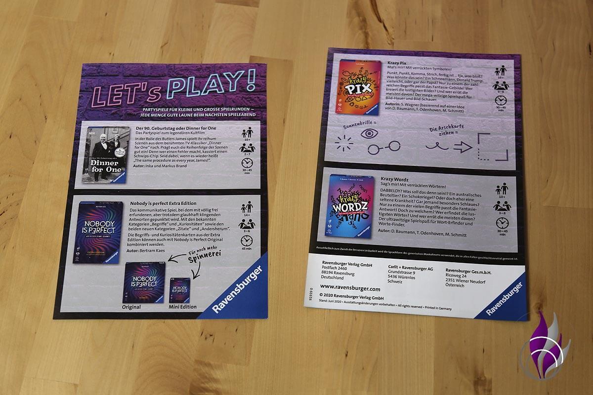 fun4family Partyspiele Ravensburger Let's play